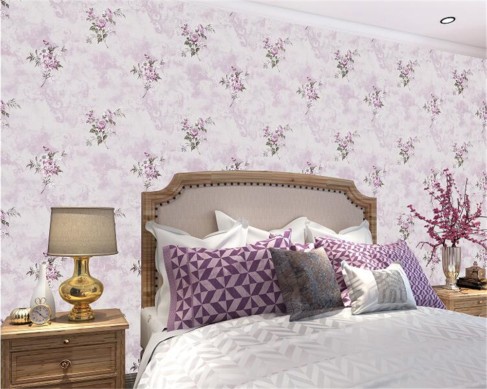 beibehang Floral American Village Retro Pastoral Pastoral Wall paper Bedroom Living Room Nonwovens 3d Wallpaper TV Background beibehang pastoral nonwovens fashion