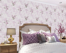 beibehang Floral American Village Retro Pastoral Wall paper Bedroom Living Room Nonwovens 3d Wallpaper TV Background