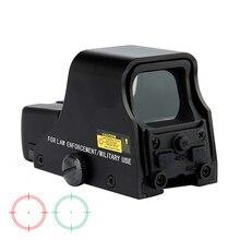Шип матовый черный тактический мм 1X22 мм голографический рефлекс красный зеленый точка зрения открытый охотничий прицел Регулируемая яркость.