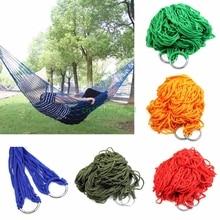 Portable Nylon Hammock Hanging Mesh Sleeping Bed Swing Outdoor Travel Camping