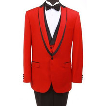 wedding suits for men tuxedo red groom wear 3 piece suits prom dress for 2017 summer dinner