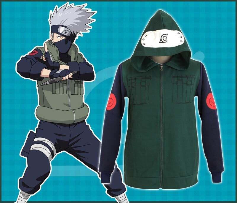 Naruto kostym Kakashi Hatake kläder för kvinnor och män disfraces - Maskeradkläder och utklädnad