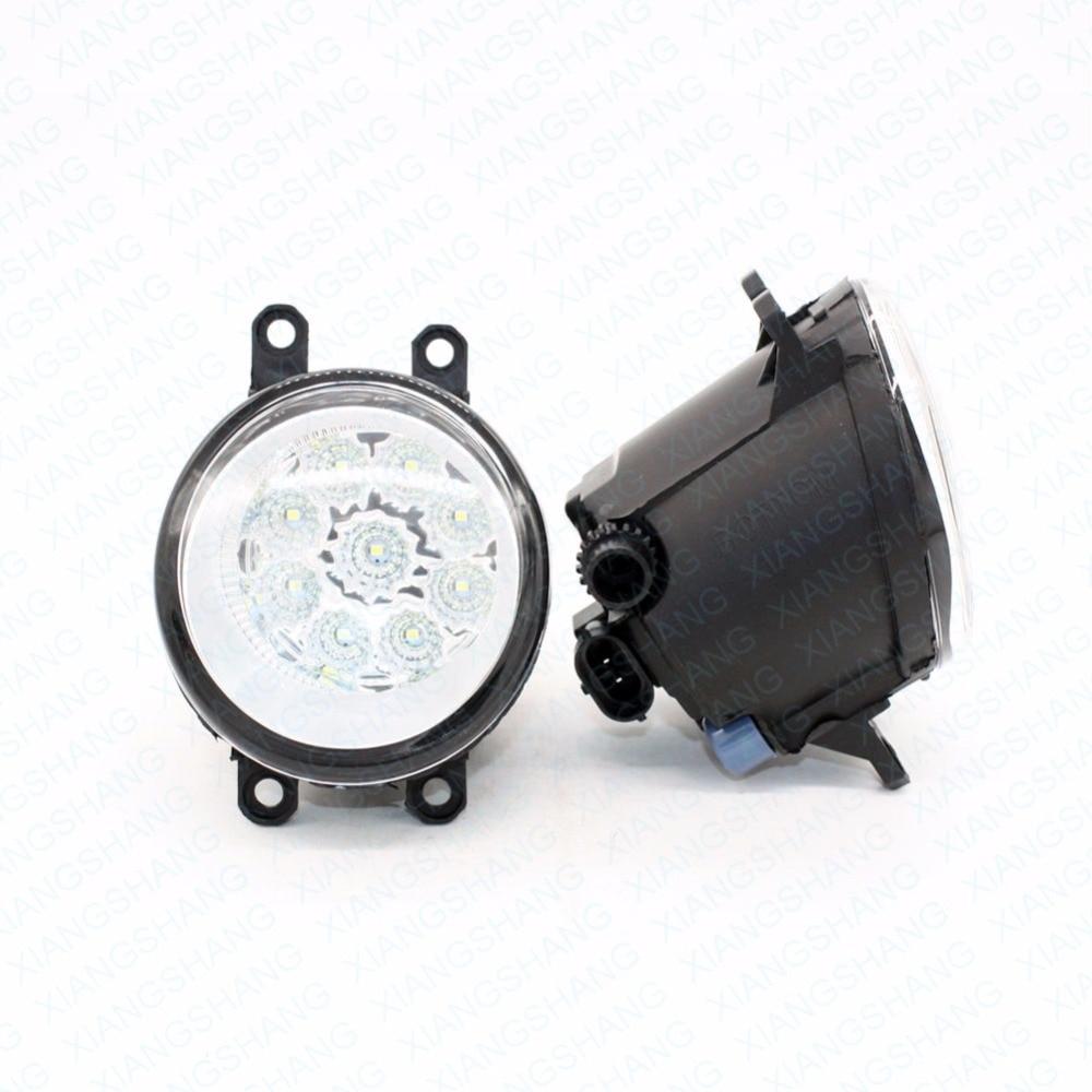 2шт автомобилей стайлинг круглый передний бампер светодиодные Противотуманные фары высокой яркости DRL день вождение лампы Противотуманные фары для Тойота Камри-бар ( _ XV4