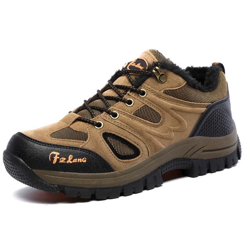 f7bc96c4cbd BeiWeiTe Winter Mens Big Size Hiking Shoes Fur Lined Warm Trail Trekking  Sneakers Antiskid Water Resistant Outdoor Tourist Shoes-in Hiking Shoes  from ...