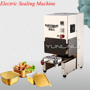 цена на Aluminium Foil Food Cans Electric Sealing Machine Takeaway Food Box Sealing Machine Catering Restaurant Equipment