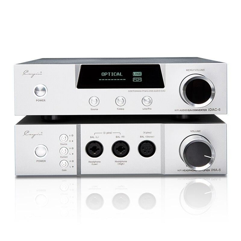 Cayin iDac-6 & iHA-6 & iDAP6 IDAC6 Audio Decoder IHA6 Full Balanced Desk earphone Amplifier HIFI Tube AMPs Aluminum Enclosure cayin idac 6