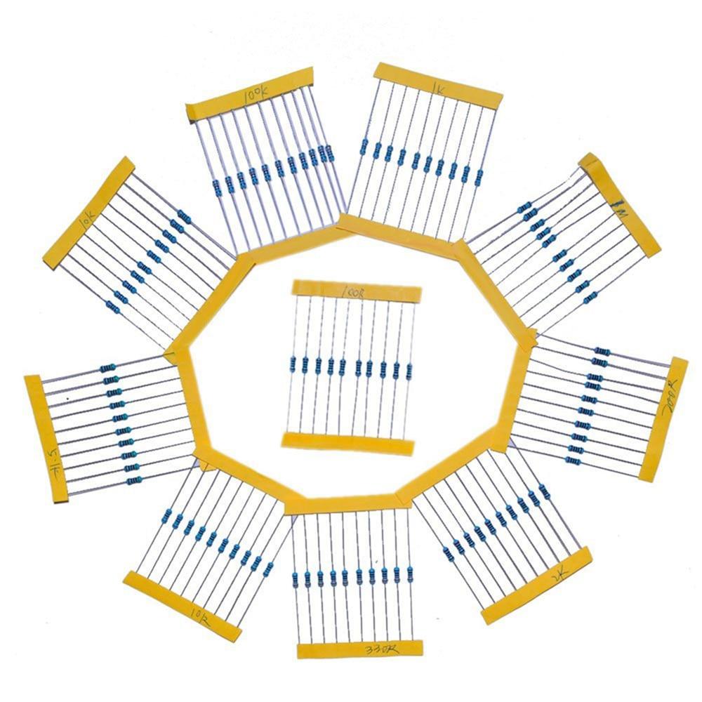 Resistor Kit Handy Resistance Portable 10values*10pcs=100pcs For Electronic Components Package