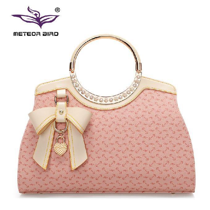 цена на 2015 Fashion Tote Crossbody Bag New Style Shoulder Bags Bow Women Handbag Hot Sale Women Messenger Bags Trendy Femininas Bolsas