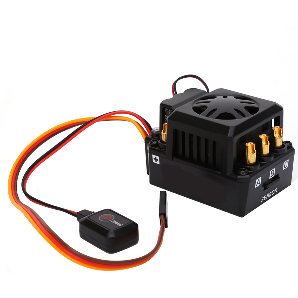 Car Truck Buggy 1/8 RC Brushless Motor ESC Sensored TS150A 150A Speed Controller For 1/8 RC Car Truck Buggy Powerful 3650 3900kv 4p sensorless brushless motor 60a brushless elec speed controller esc w 5 8v 3a switch mode bec for 1 10 rc car