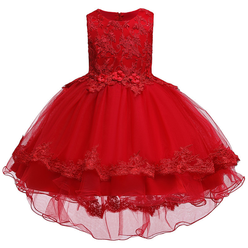 HTB1BG8Ge4iH3KVjSZPfq6xBiVXav - Kids Princess Dresses For Girls Clothing Flower Party Girls Dress Elegant Wedding Dress For Girl Clothes 3 4 6 8 10 12 14 Years