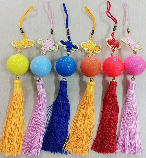 Hot Sale 2016 New Design Colorful Chinese Knot Golf Ball Set