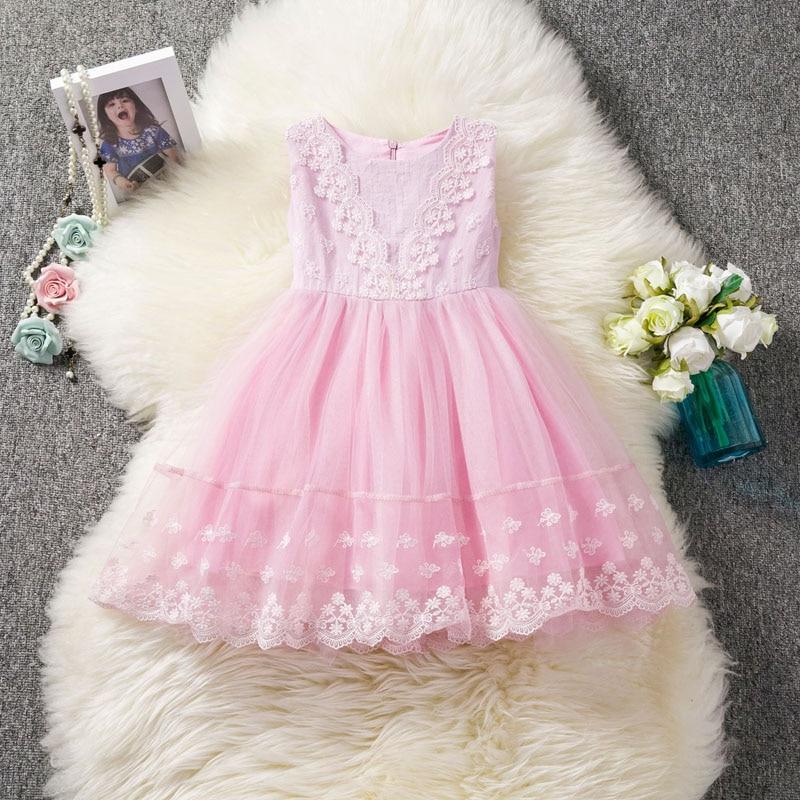 U-SWEAR 2019 New Arrival Kid Flower Girl Dresses Flora Lace Faux Two-piece Soft Little Girls Pageant Dresses Ball Gown Vestidos