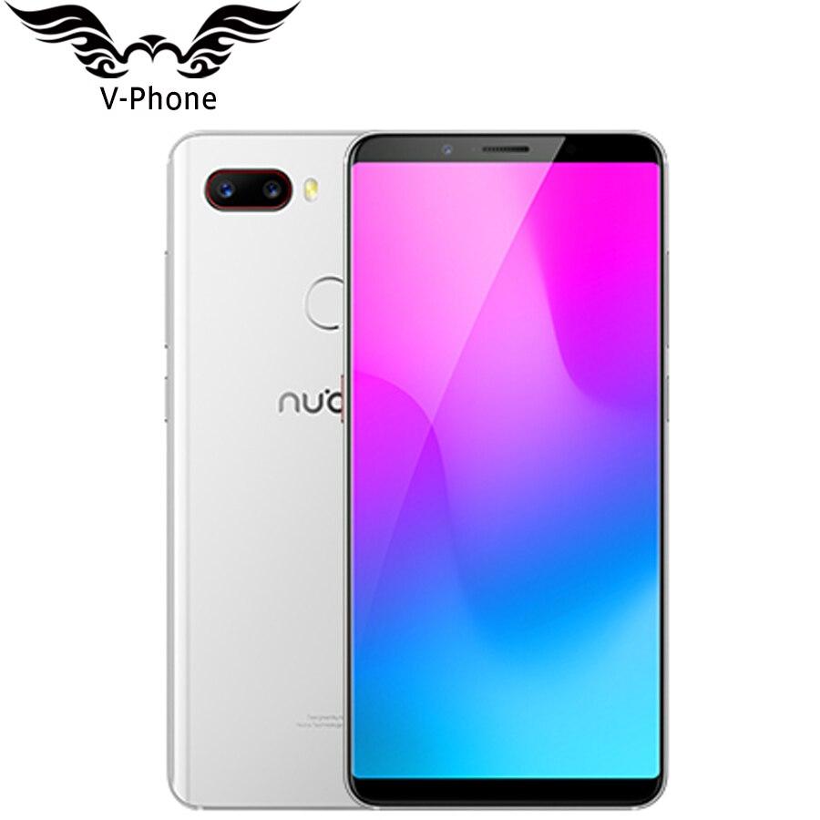 2018 Nouveau Original 6 gb 64 gb ZTE Nubia Z18 mini téléphone Portable 5.7 Snapdragon 660 AIE Octa Core 24MP Caméra FHD Plein Écran Face ID