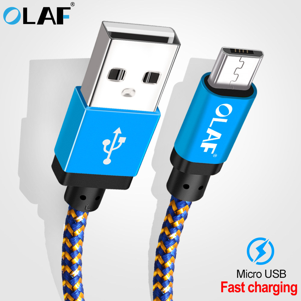 Olaf Micro Usb Cable 1M 2M 3M Quick Knowledge Sync Charging Cable For Samsung Huawei Xiaomi Lg Andriod Microusb Cell Cellphone Cables