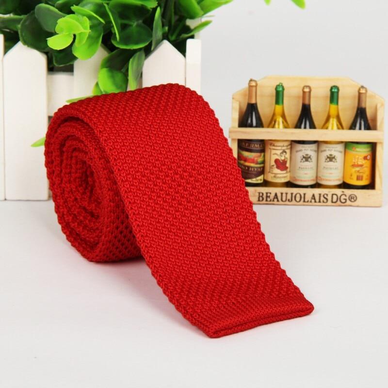SHENNAIWEI Mode 5,5 cm Krawatte dünne gestrickte Krawatte schmale - Bekleidungszubehör - Foto 3