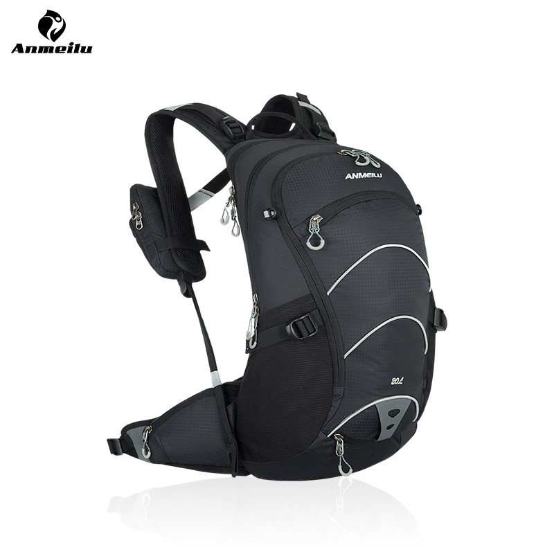 ANMEILU 20L Waterproof Breathable Bicycle Bag MTB Moutain Bike Hydration Backpack Nylon Travel Hiking Climbing Bag, No Water Bag anmeilu 20l nylon outdoor climbing camping cycling backpack bicycle shoulder package road mountain bike bag rucksack travel bag