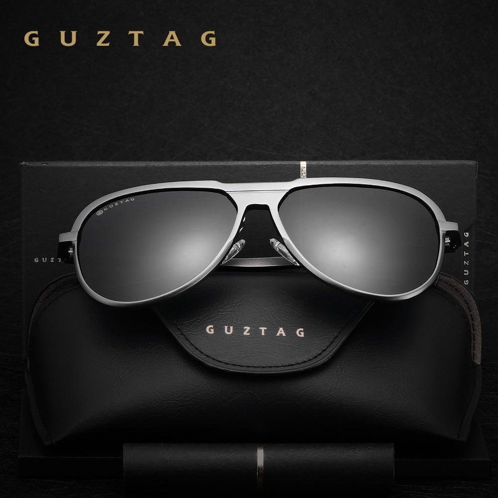 GUZTAG Unisex Classic Brand Män Aluminium Solglasögon HD - Kläder tillbehör - Foto 3
