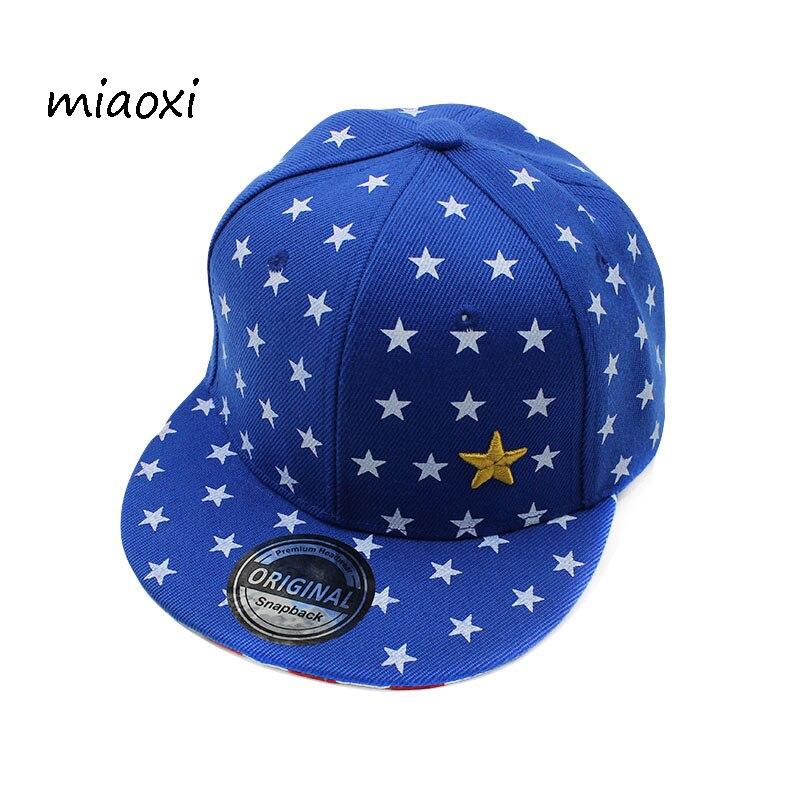 miaoxi New High Quality Child Hip Hop   Cap   Boys Summer   Baseball     Caps   Girl Star Adjustable Children Snapback Fashion Hat For Boy