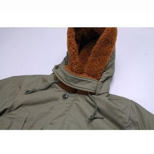 Image 3 - Repro US Army B 11 abrigo largo de algodón para hombre, Parka, verde, uniforme militar Vtg