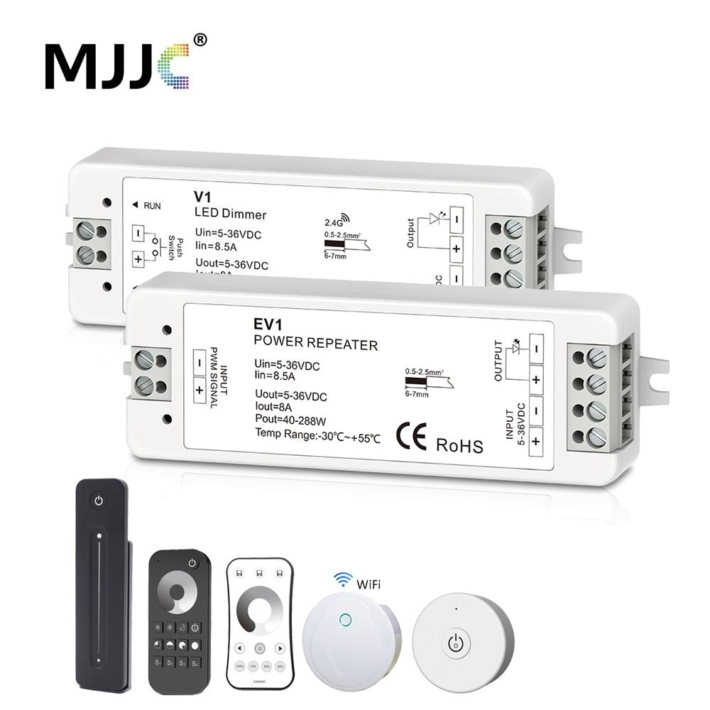 LED Dimmer 12V Amplifier 24V PWM 2.4G RF Wireless Remote 5V 36V Wifi Dimmer Controller Amplifier Power Repeater For LED Strips