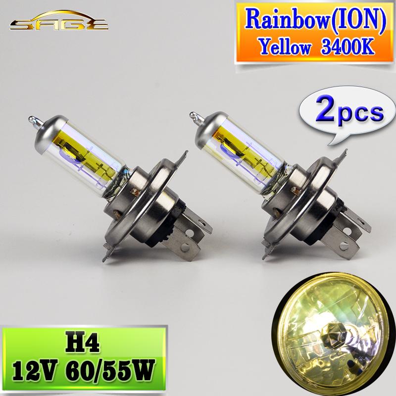 bombilla halgena h arco iris iones oro amarillo v w