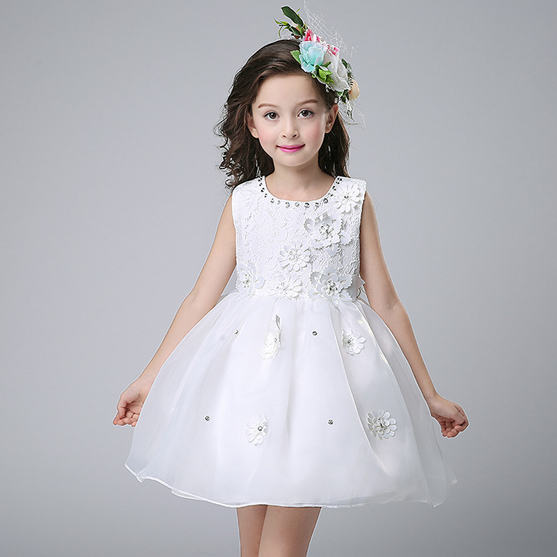 Teenagers Girls Flower Dresses for Wedding Party Princess Dress Children Graduation Ball Gowns Girl Bridesmaid Clothing 5-16Y new year flowers flower dresses for wedding party baby girls christmas party princess clothing children summer dresses