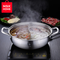 M&K HOME Kitchen Utensils Tools Cookware Germany Quality Double Pot Hot Pot Induction Cooker 304 Stainless Steel Thick Suitable