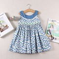 Summer Wear New Pattern Fashion Sleeveless Dress toddler girls flower dress cotton dress kids clothing dress girl