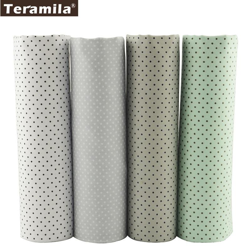 Teramila Tyg Liten Vit och Svart Dot Design 40cmx50cm Fett Kvartal Bomull Tyg Sy Tyg Patchwork Hotel Dedding Sheet