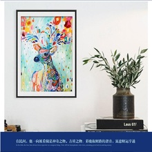 Foreign trade diamond painting small animal pattern color deer applique DIY hand-painted