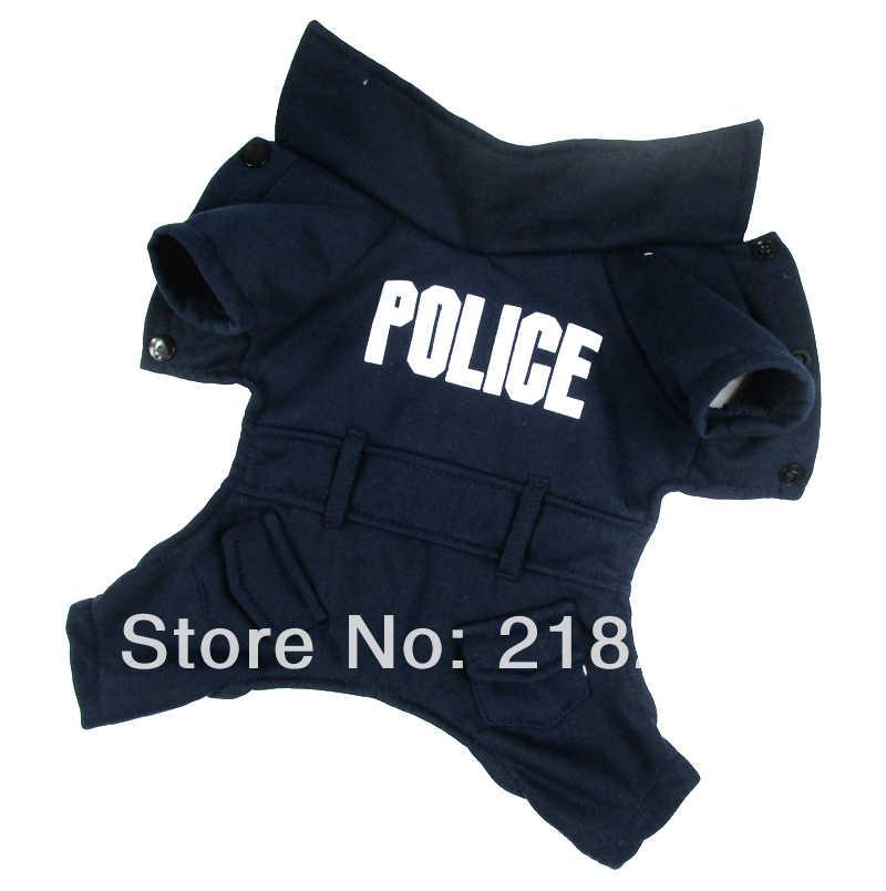 c0bfbd79dca33 Новое милое темно-синее английское полицейское пальто для собак, Бесплатная Доставка  почтой Китая,