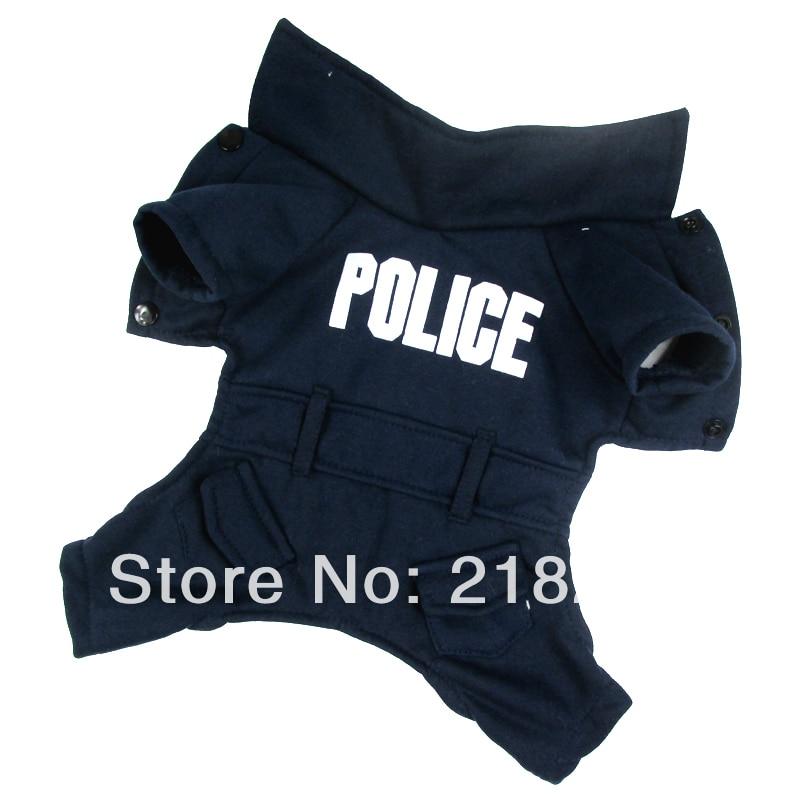 Ny söt Mörkblå Engelska polisen Pet Dogs Coat Gratis frakt Av china post Hundkläder
