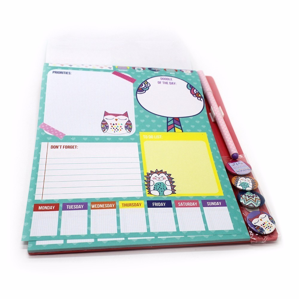 Cuaderno de Bolsillo 4 Imán Pequeño Limpio Lindo Chica Portátil - Blocs de notas y cuadernos