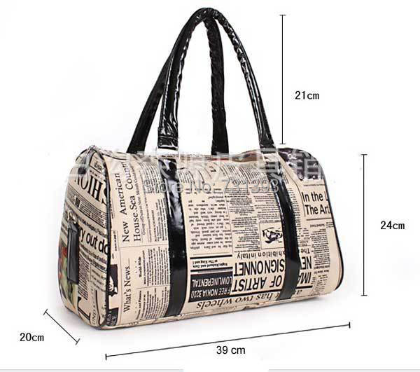 Womens Travel Bags images Womens travel bags newspapers poster bag retro  vintage style lady jpg 81d031a799