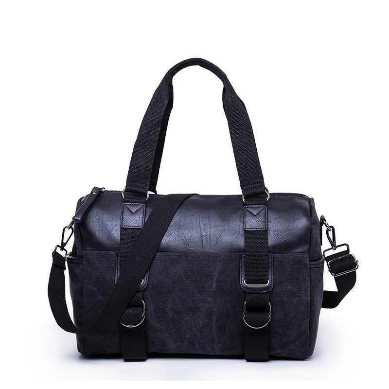 אופנה גברים של נסיעות שקיות מזוודות מזוודה עמיד למים תרמיל גדול קיבולת גדולה שקיות קיבולת גבוהה מזדמן עור מפוצל תיק