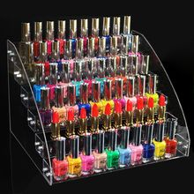 6 poziomów kosmetyczny makijaż lakier do paznokci lakier do paznokci wieszak stojący pojemnik na pudełko biżuteria opakowanie akrylowe Organizer półka do przechowywania