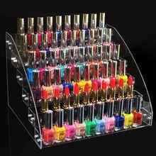 Présentoir à 6 niveaux, étagère de rangement pour organisateur de maquillage de vernis à ongles, boîte support étagères pour bijoux, emballage acrylique