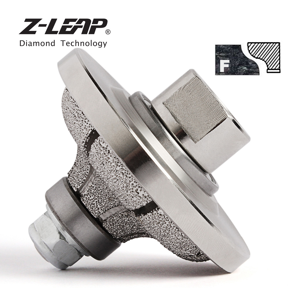 Z LEAP Vacuum Brazed F20 Diamond Router Bit Profiling Wheel Edge Grinding Cutting Bit For Hand