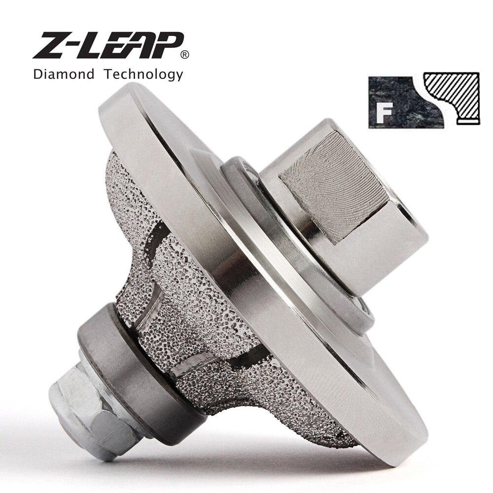 Z LEAP Vacuum Brazed F20 Diamond Router Bit Profiling Wheel Edge Grinding Cutting Bit For Hand Tool Marble Granite Stone