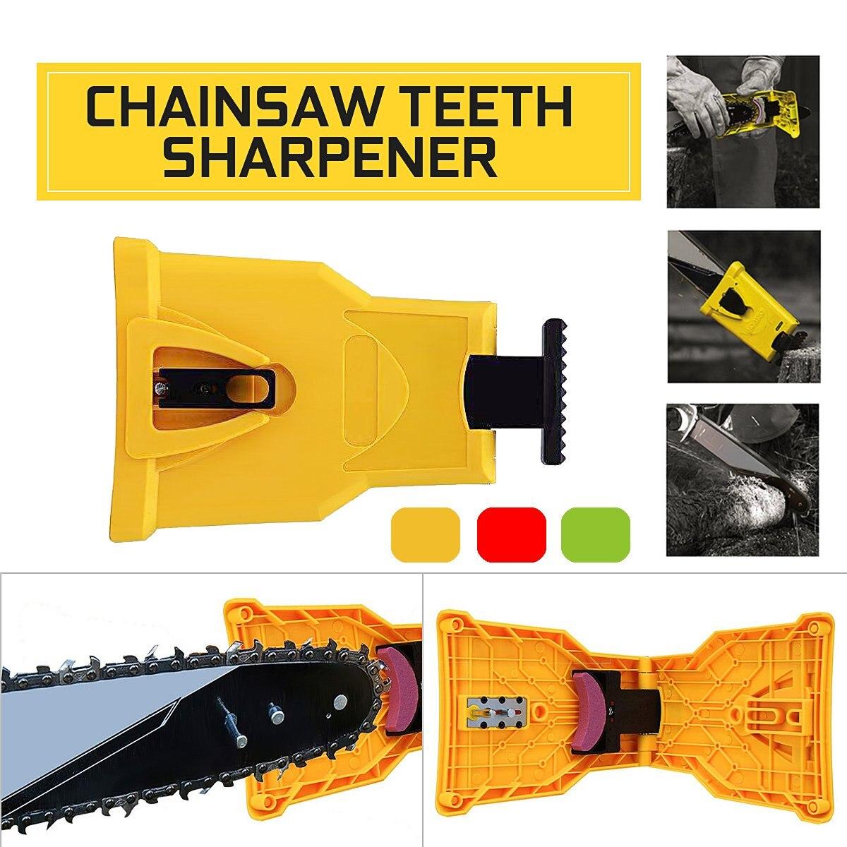 Chainsaw Teeths Sharpener Self Sharpening Grinder Teeths Sharpening Electric Power Chain Saw Chain Sharpener Woodworking Tools