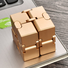 Magical Infinite stress relief Cube infinity cube aluminium Toys Premium Metal Deformation Stress Reliever for EDC Anxiety