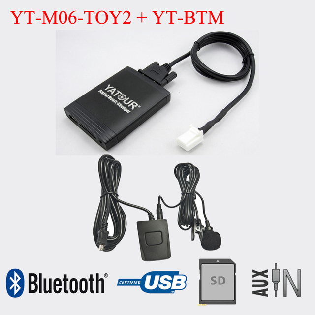 Yatour Car Radio USB SD AUX IN With Bluetooth Adapter For