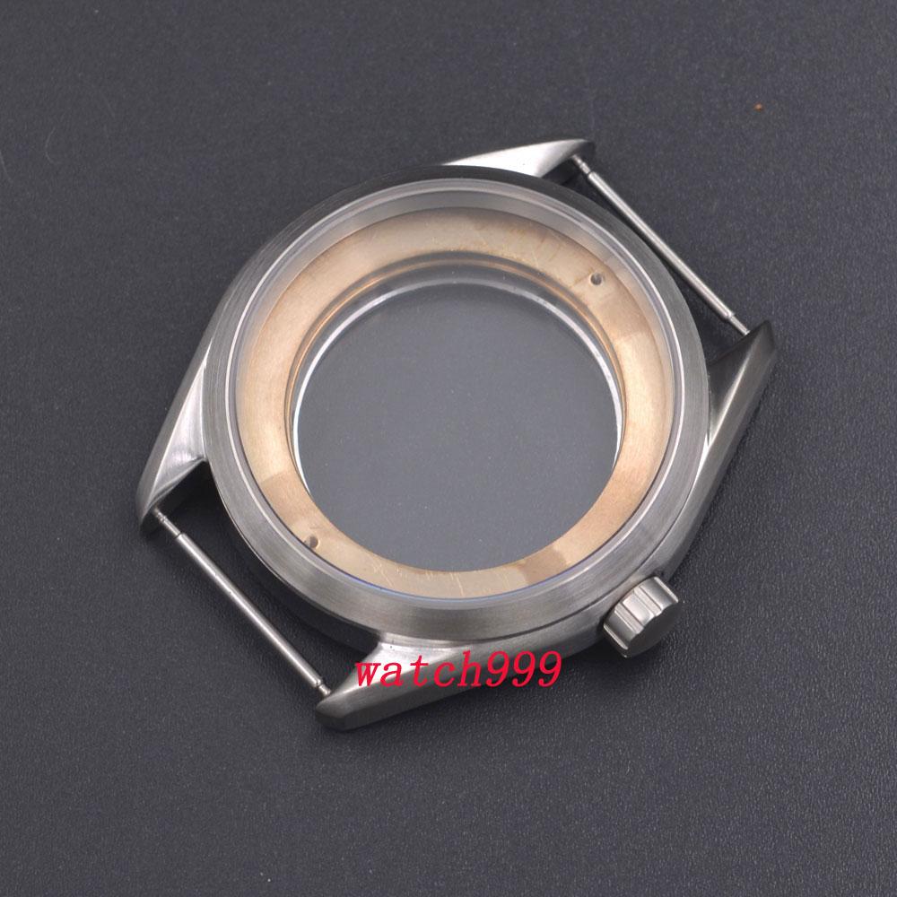 Saatler'ten null'de 41mm Gümüş Çelik Saat Durumda Fit ETA 2836, Mingzhu/DG 2813/3804, Miyota 8205/8215'da  Grup 1