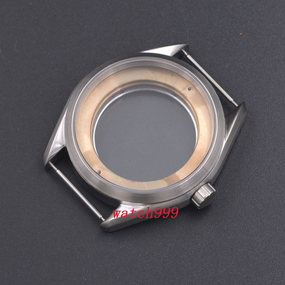41mm Silber Stahl Uhr Fall Fit ETA 2836, Mingzhu/DG 2813/3804, Miyota 8205/8215-in null aus Uhren bei  Gruppe 1
