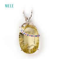 Women Fashion 925 Sterlling Silver Crystal Pendant Good Quality Direct Factory Price For Wedding Party Children