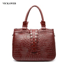 VICKAWEB Genuine Leather Crossbody Bags for Women 2017 Female Bag  Alligator New Women Messenger Bags Small Female Shoulder Bag