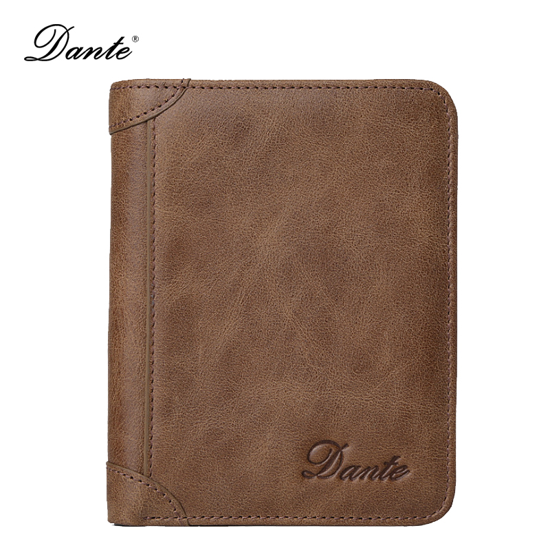 dante mens wallet leather genuine fashion business credit sd card holder clutch small purse slim