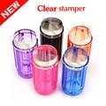 Caliente Silicón de La Jalea de Color Caramelo 2.8 cm Claro Nail Art Stamper Scraper Kit Polaco Diseño Impresión Stamping Nail Herramientas