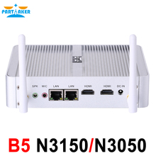 Partaker Partaker B5 Fanless Desktop Computer Mini Pc N3150 N3050 with Dual Lan Dual HDMI Free
