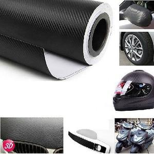 Image 1 - Filme adesivo em vinil para decoração de interior, papel de decoração 127x30cm 3d em fibra de carbono adesivo do carro novo